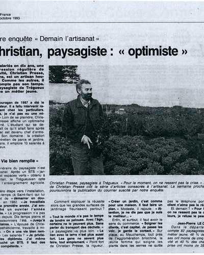 Christian Presse, Paysagiste : Optimiste