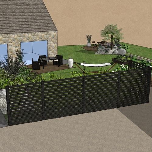 Masquer le vis à vis grâce à une terrasse