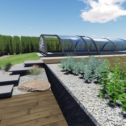 Plan 3D d''un aménagement de l''espace extérieur - Fréhel