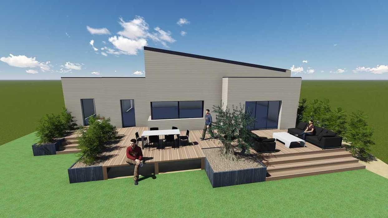 Plan 3D d''une terrasse sur pilotis pers1