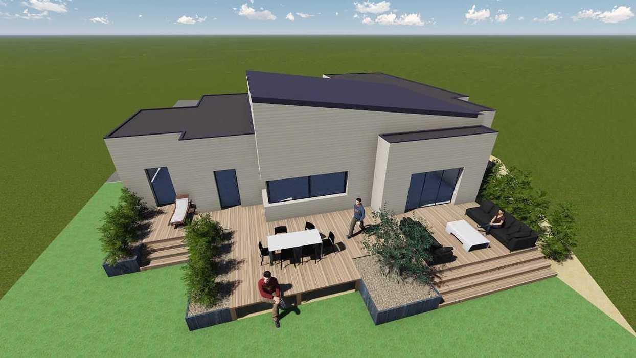 Plan 3D d''une terrasse sur pilotis pers2