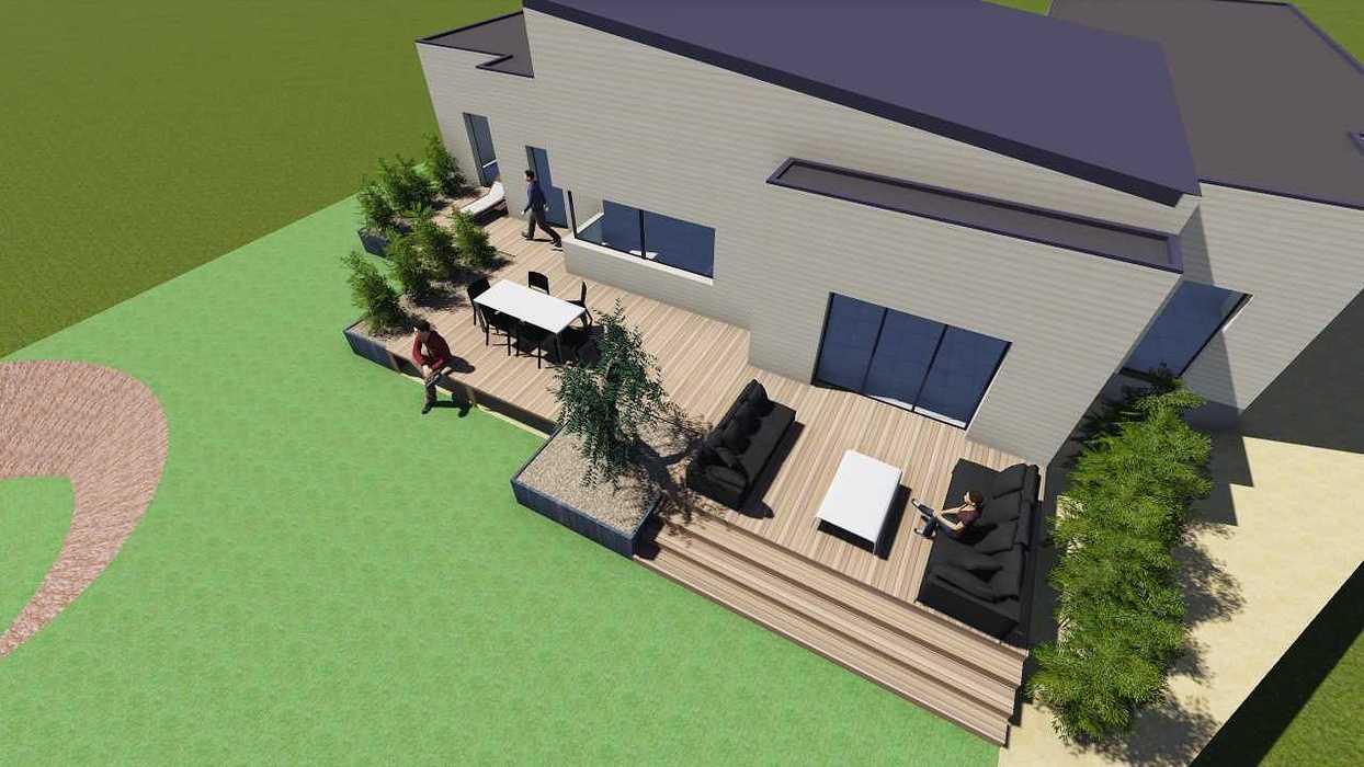 Plan 3D d''une terrasse sur pilotis pers4