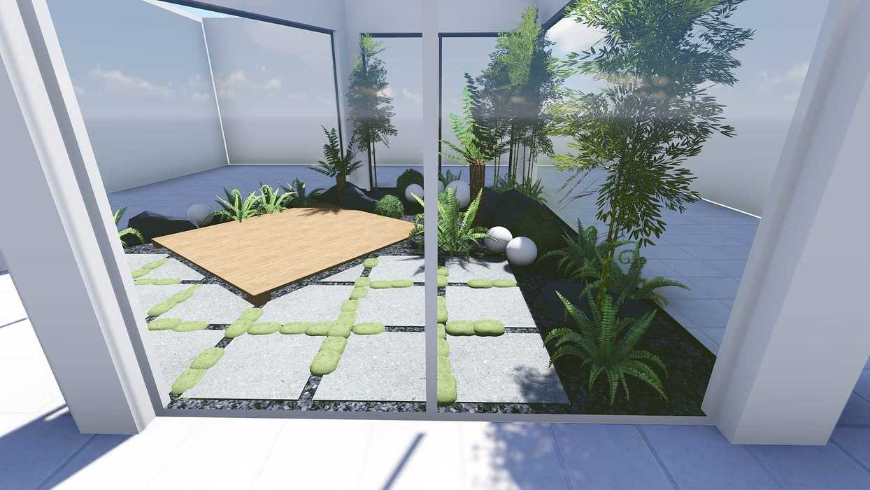 Plan 3D d''un patio patio2