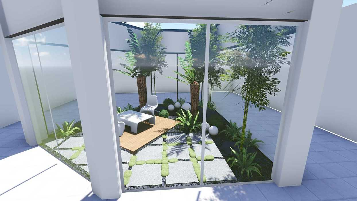 Plan 3D d''un patio patio6