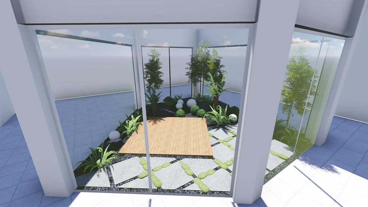 Plan 3D d''un patio patio