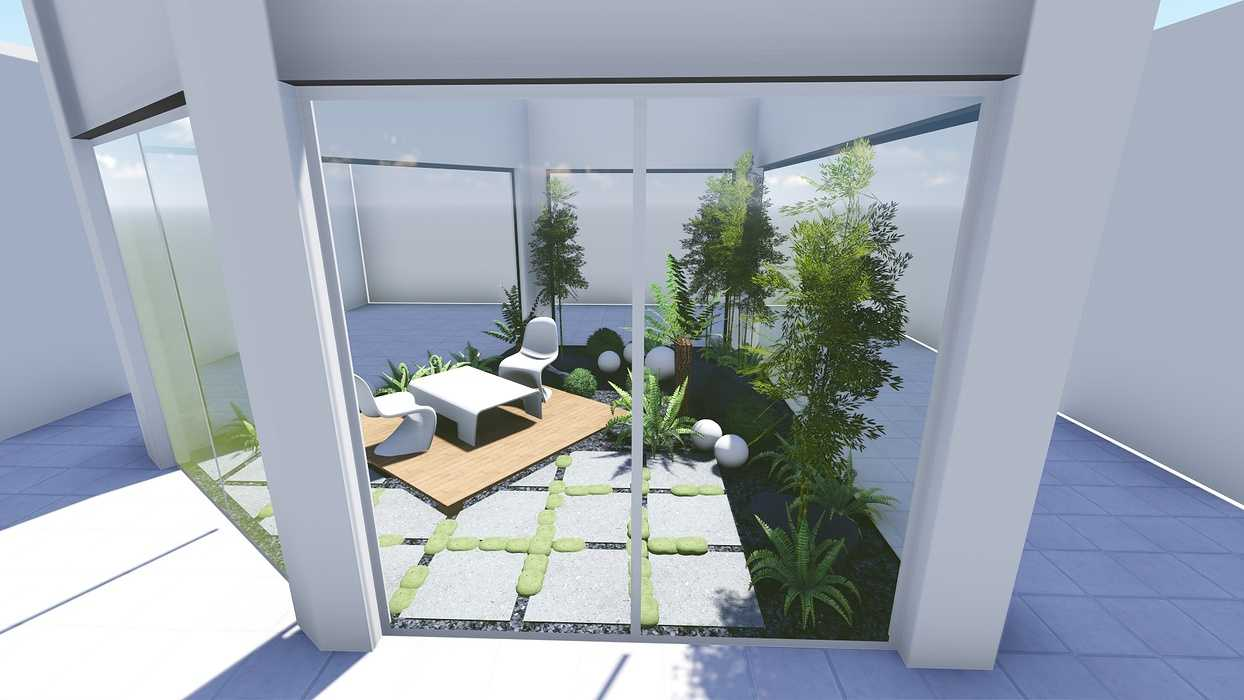 Plan 3D d''un patio 0