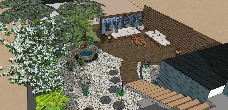 Transformer un petit jardin de ville encaissé en jardin d'inspiration japonaise. – SAINT-BRIEUC coursin23