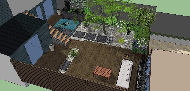 Transformer un petit jardin de ville encaissé en jardin d'inspiration japonaise. – SAINT-BRIEUC coursin30