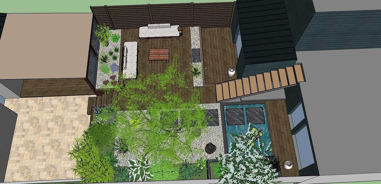 Transformer un petit jardin de ville encaissé en jardin d'inspiration japonaise. – SAINT-BRIEUC coursin32