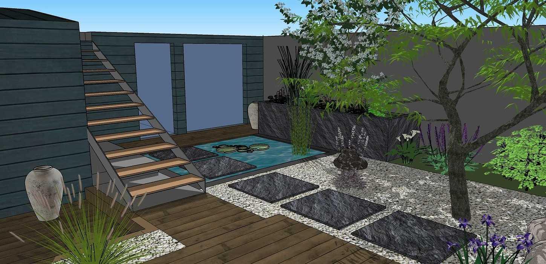 Transformer un petit jardin de ville encaissé en jardin d'inspiration japonaise. – SAINT-BRIEUC coursin33