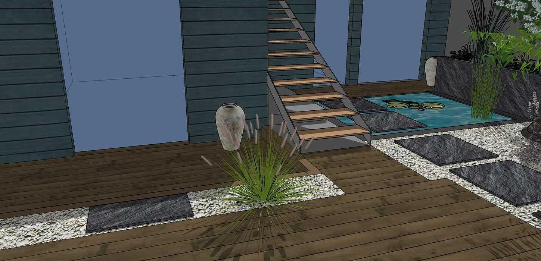 Transformer un petit jardin de ville encaissé en jardin d'inspiration japonaise. – SAINT-BRIEUC coursin34