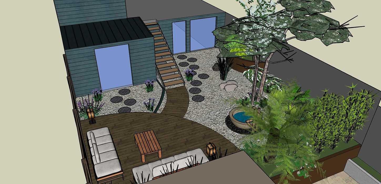 Transformer un petit jardin de ville encaissé en jardin d'inspiration japonaise. – SAINT-BRIEUC coursin21