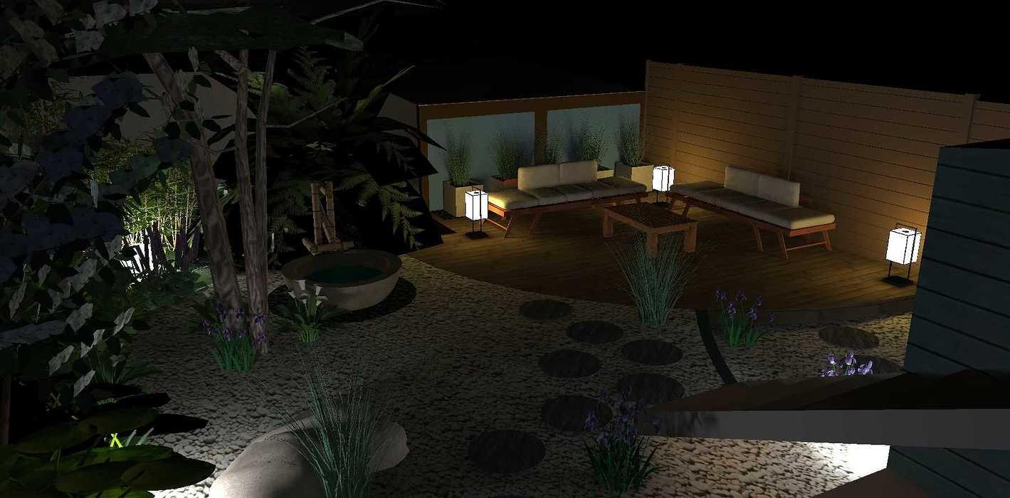 Transformer un petit jardin de ville encaissé en jardin d'inspiration japonaise. – SAINT-BRIEUC coursin3