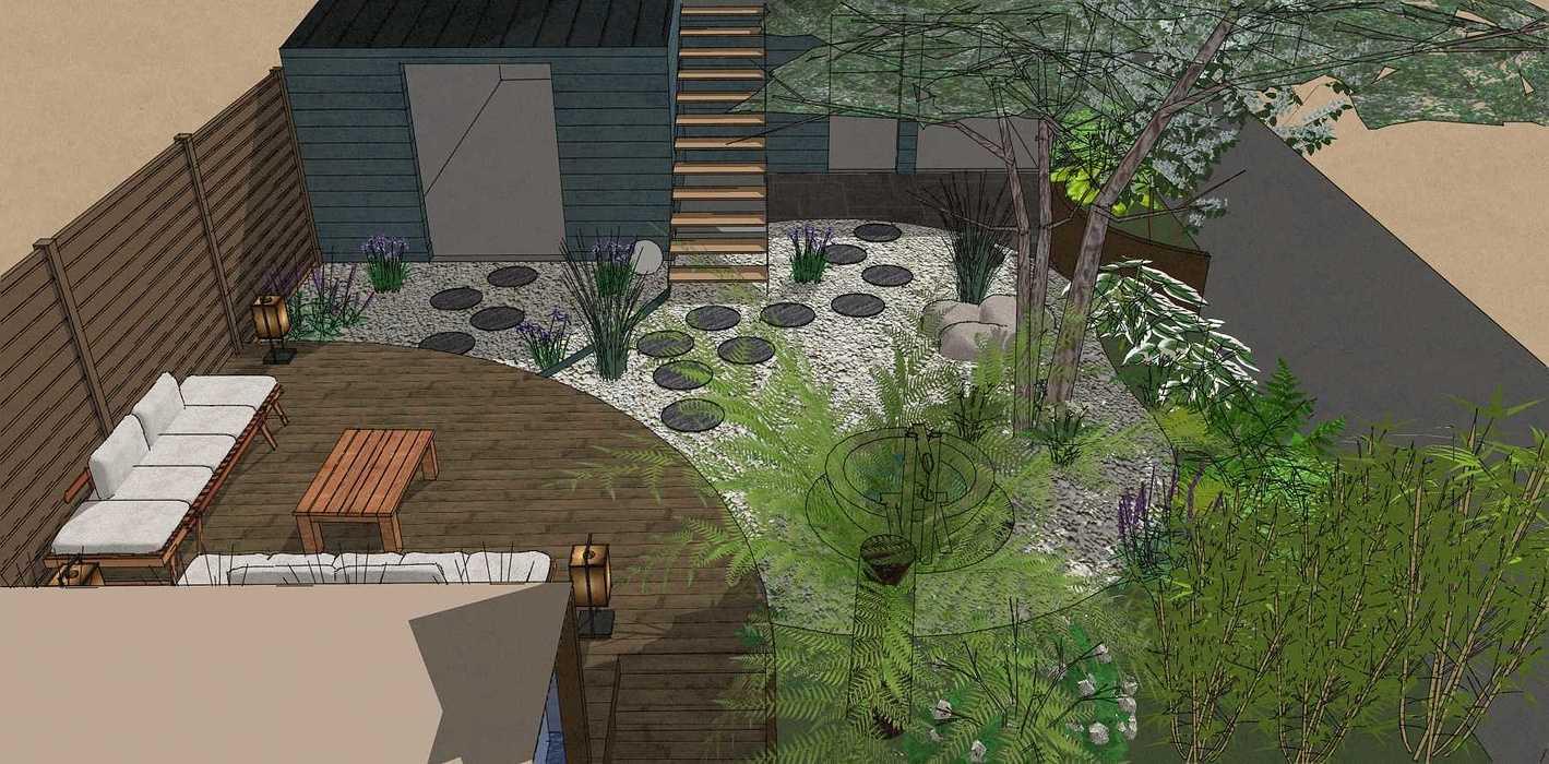 Transformer un petit jardin de ville encaissé en jardin d'inspiration japonaise. – SAINT-BRIEUC coursin5