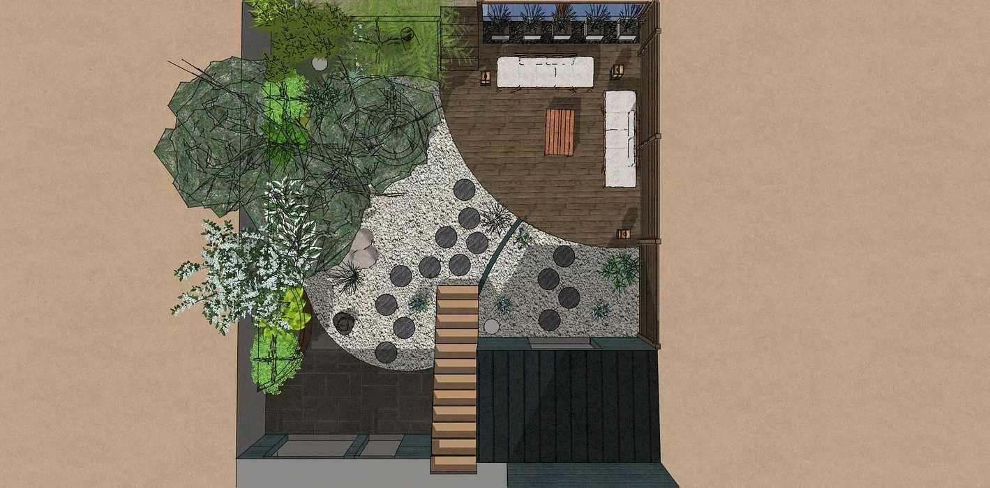 Transformer un petit jardin de ville encaissé en jardin d'inspiration japonaise. – SAINT-BRIEUC coursin7