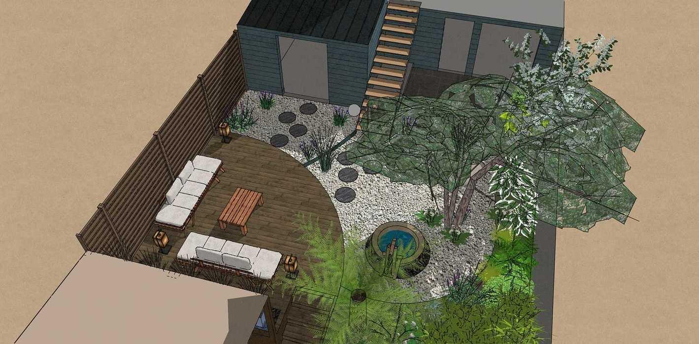 Transformer un petit jardin de ville encaissé en jardin d'inspiration japonaise. – SAINT-BRIEUC coursin8