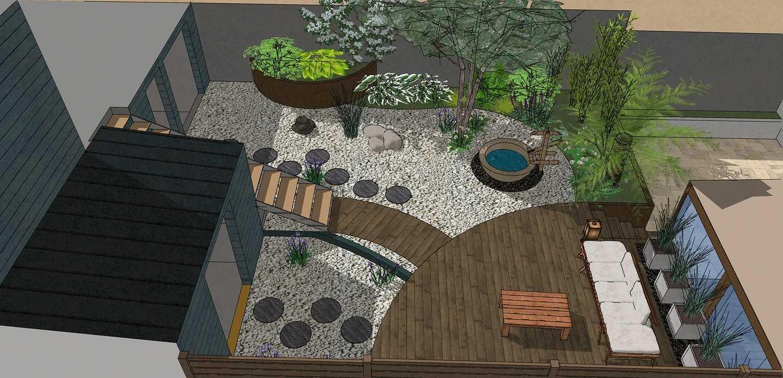 Transformer un petit jardin de ville encaissé en jardin d'inspiration japonaise. – SAINT-BRIEUC 0