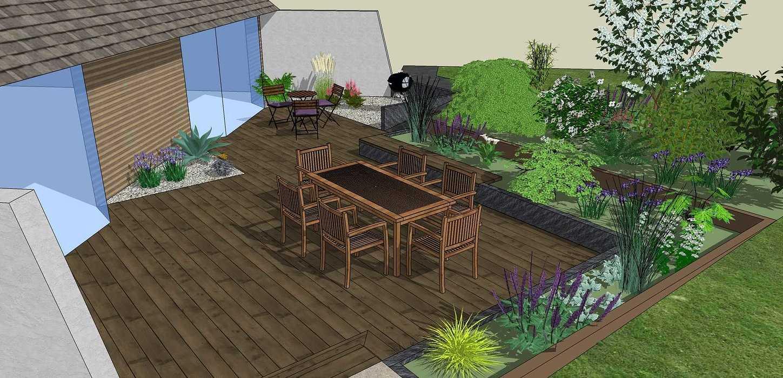 Modifier la terrasse aux abords des pièces de vie en utilisant les niveaux du terrain existant. - LANGUEUX rouxel2