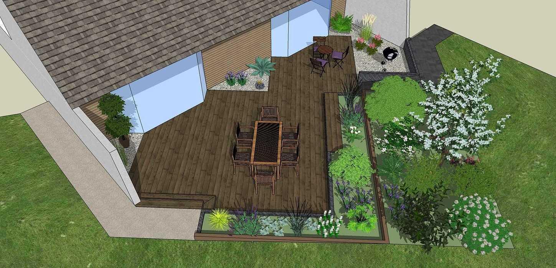 Modifier la terrasse aux abords des pièces de vie en utilisant les niveaux du terrain existant. - LANGUEUX rouxel3