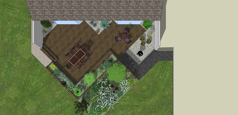 Modifier la terrasse aux abords des pièces de vie en utilisant les niveaux du terrain existant. - LANGUEUX rouxel5