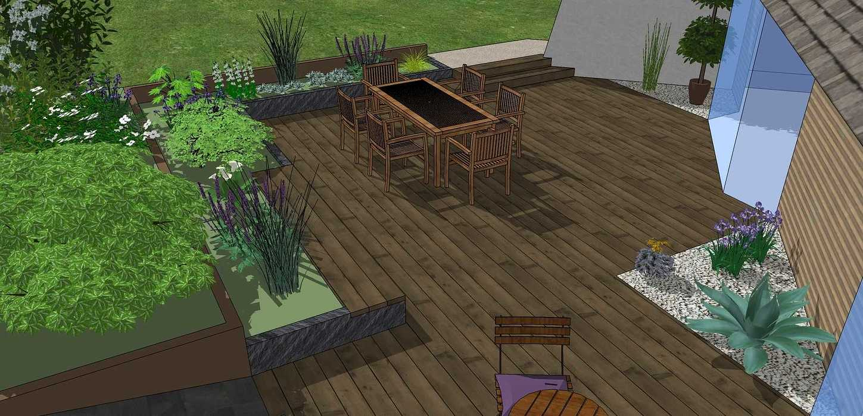 Modifier la terrasse aux abords des pièces de vie en utilisant les niveaux du terrain existant. - LANGUEUX rouxel6