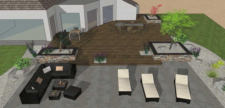Création d'une terrasse en bois entre la maison et une terrasse – LAMBALLE oleron30