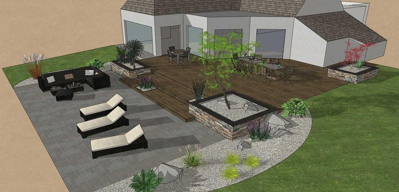 Création d'une terrasse en bois entre la maison et une terrasse – LAMBALLE oleron31