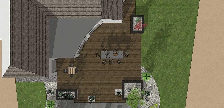 Création d'une terrasse en bois entre la maison et une terrasse – LAMBALLE oleron36