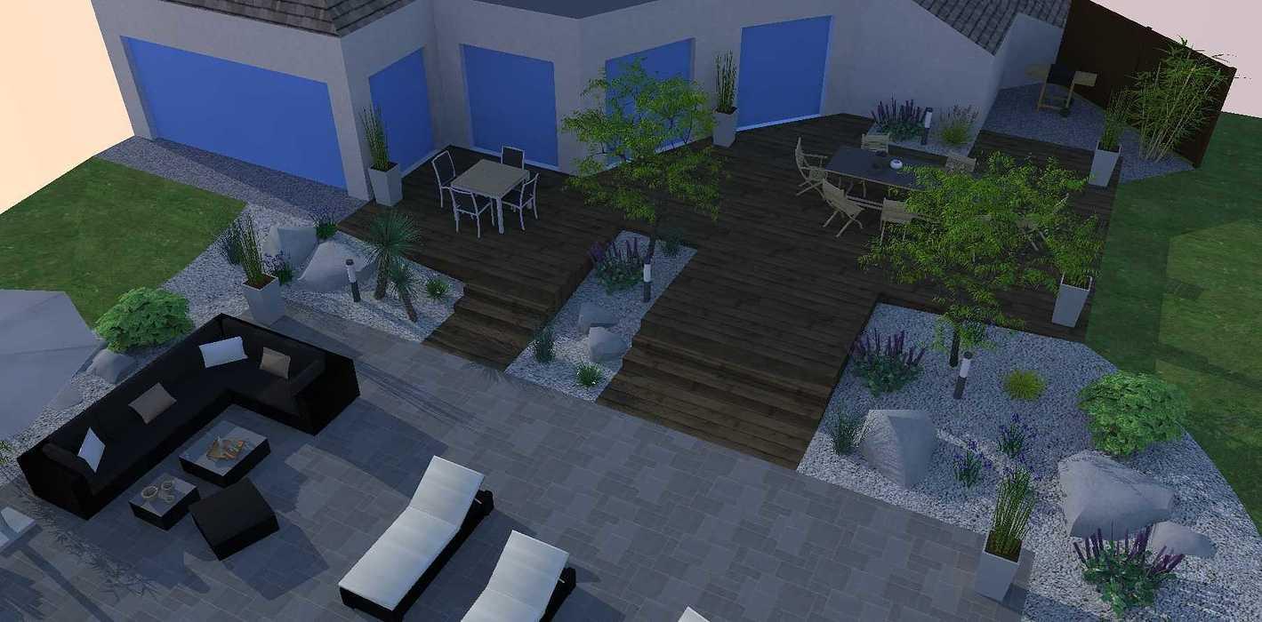 Création d'une terrasse en bois entre la maison et une terrasse – LAMBALLE oleron8