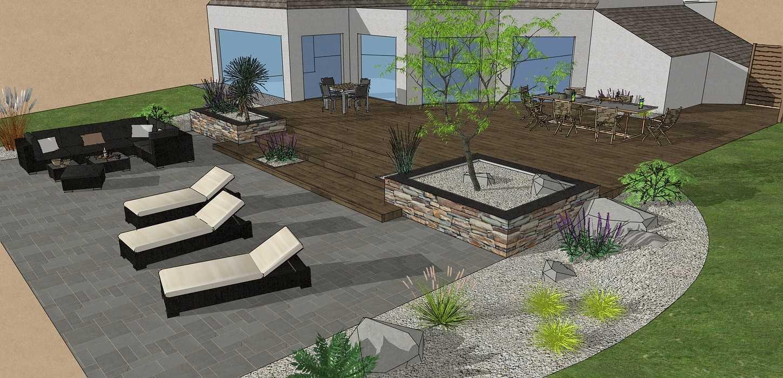 Création d'une terrasse en bois entre la maison et une terrasse – LAMBALLE 0