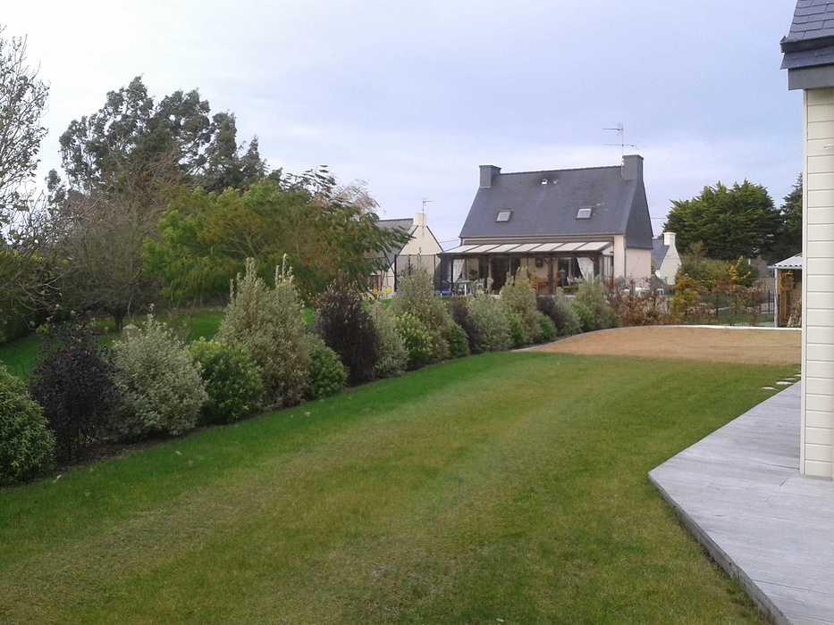 Terrasse en bois avec clôture pour masquer le vis à vis - PLOUEZEC 2012-11-2011.46.23