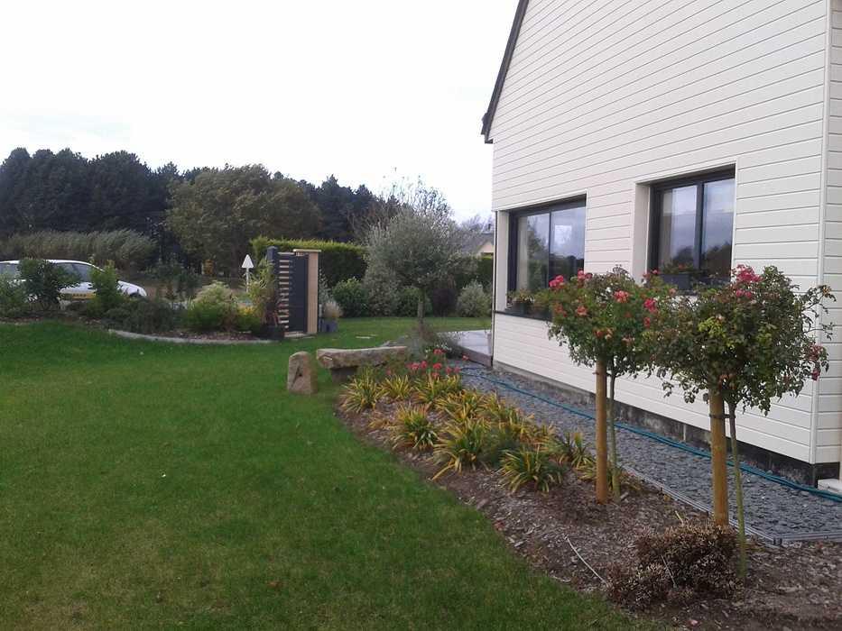 Terrasse en bois avec clôture pour masquer le vis à vis - PLOUEZEC 2012-11-2011.47.04