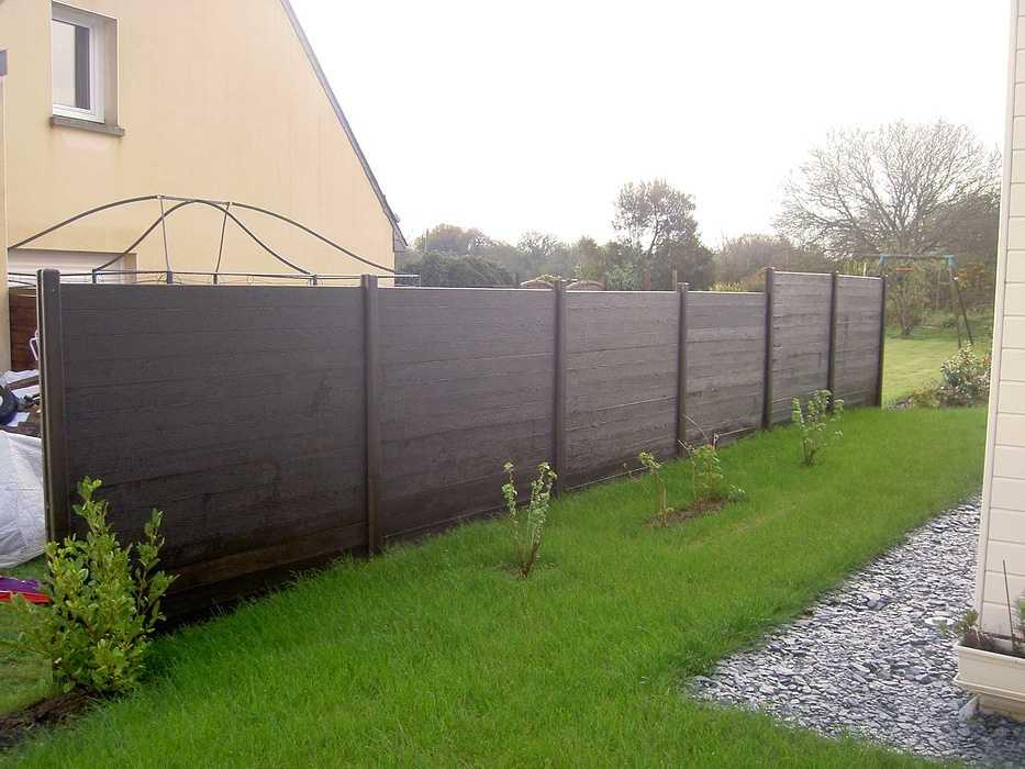 Terrasse en bois avec clôture pour masquer le vis à vis - PLOUEZEC cloturenicolas