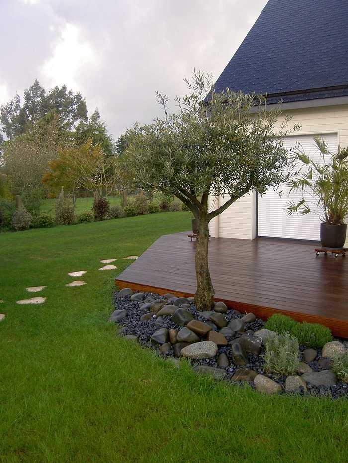 Terrasse en bois avec clôture pour masquer le vis à vis - PLOUEZEC pict2879