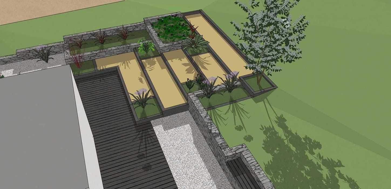 Aménager un jardin avec dénivelé à Plérin deumeurant2