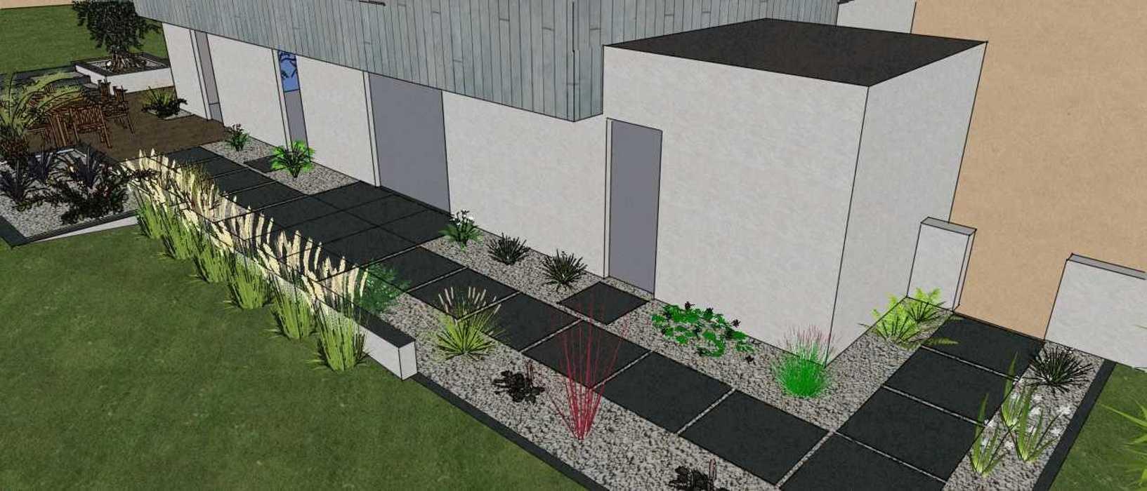 Terrasses communicantes sur différents niveaux renault3d4