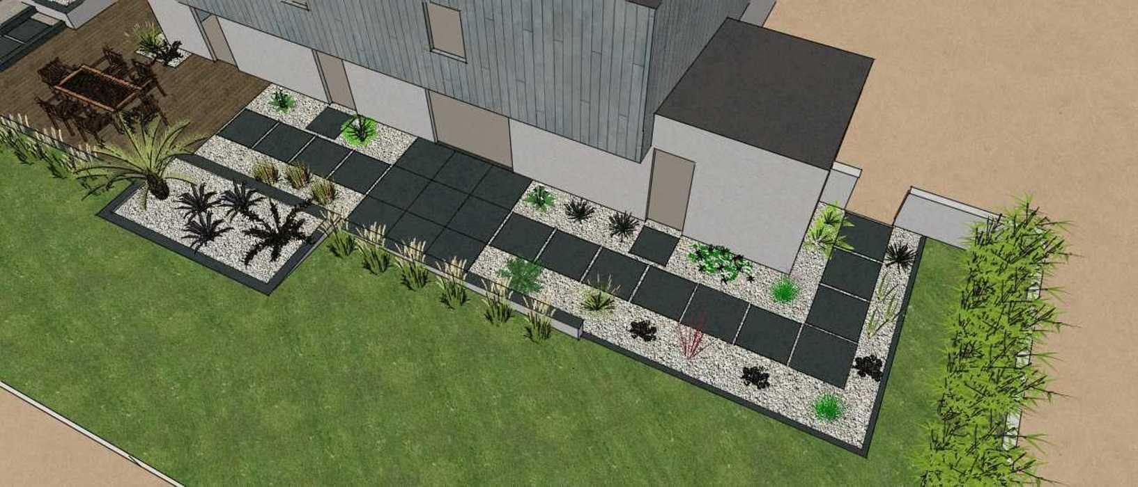 Terrasses communicantes sur différents niveaux renault3d5
