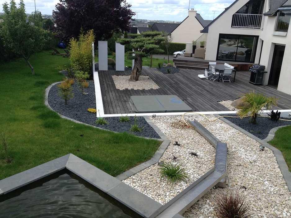 Terrasse Jardin Moderne - Maison Design - Sibfa.com