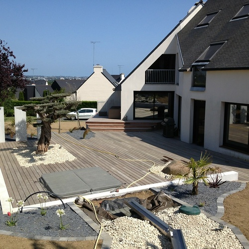 Travaux d''aménagement terrasse, jardin et SPA à Trégueux